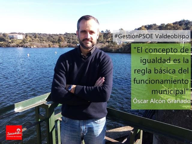 Óscar Alcón: «El concepto de igualdad es la regla básica del funcionamiento municipal»