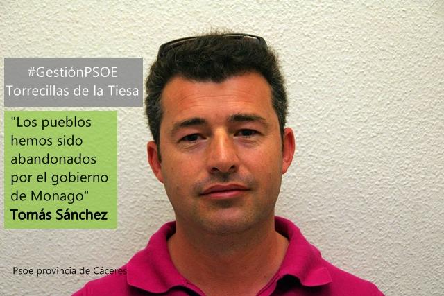Tomás Sánchez: «Los pueblos hemos sido abandonados por el gobierno de Monago»