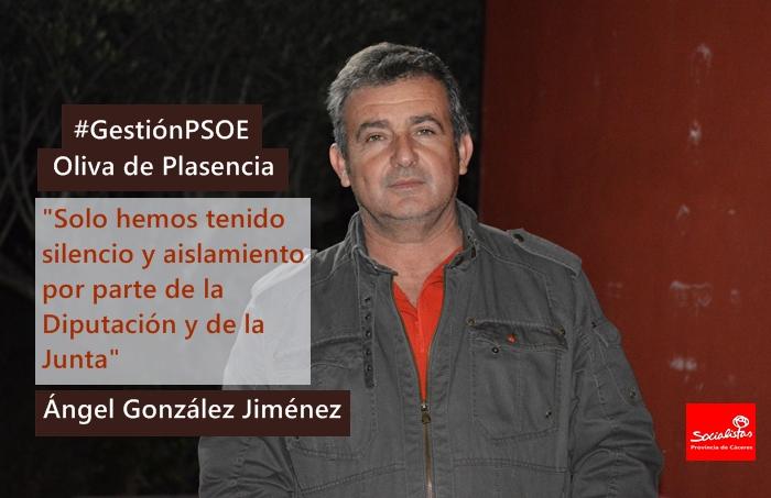 Ángel González: «Solo hemos tenido silencio y aislamiento por parte de la Diputación y de la Junta»