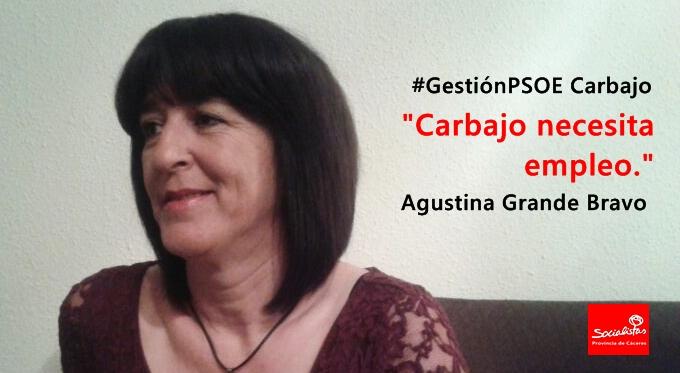Agustina Grande: «Carbajo necesita empleo»