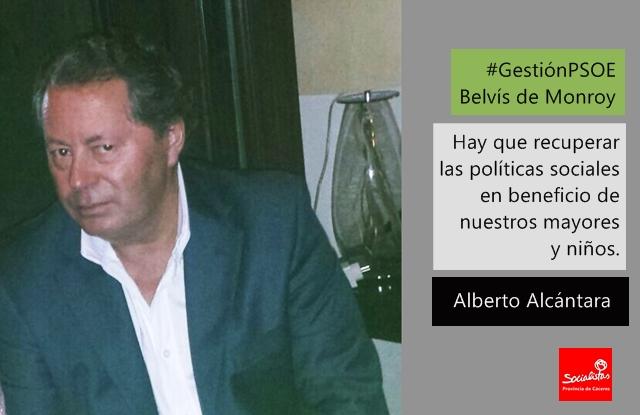Alberto Alcántara: «Hay que recuperar las políticas sociales en beneficio de nuestros mayores y niños»