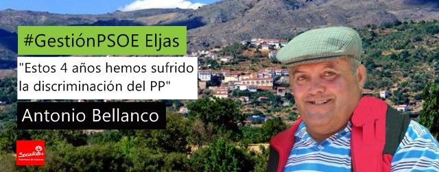 Antonio Bellanco: «Estos 4 años hemos sufrido la discriminación del PP»