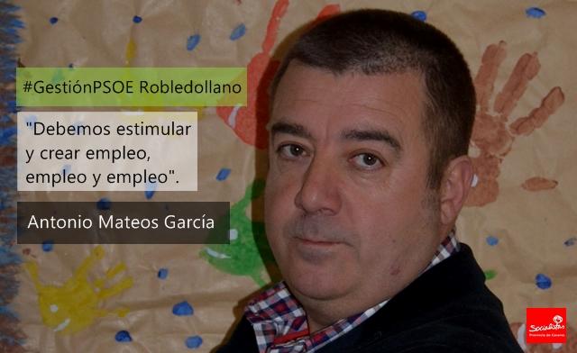 Antonio Mateos García: «Debemos estimular y crear empleo, empleo y empleo»