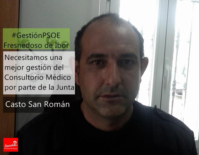 Casto San Román: «Necesitamos una mejor gestión del Consultorio Médico por parte de la Junta»