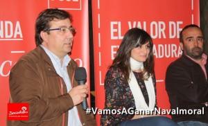Guillermo Fernández Vara, Raquel Medina y Miguel Ángel Morales en Navalmoral