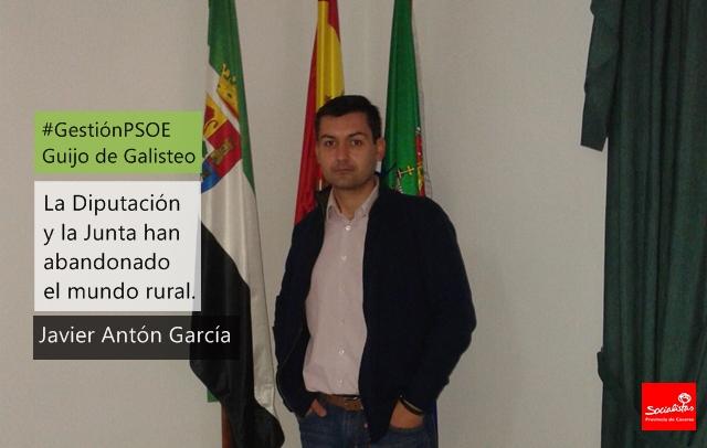 Javier Antón García: «La Diputación y la Junta han abandonado el mundo rural»