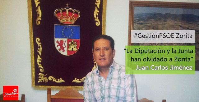 Juan Carlos Jiménez: «La Diputación y la Junta han olvidado a Zorita»