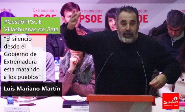 Luis Mariano: «El silencio desde el Gobierno de Extremadura está matando a los pueblos»