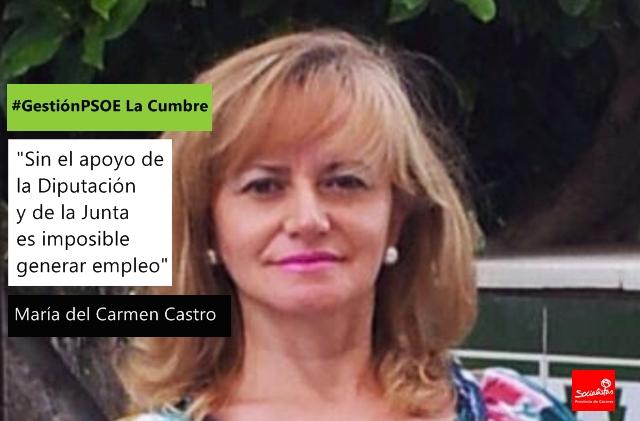 María del Carmen Castro: «Sin el apoyo de la Diputación y de la Junta es imposible generar empleo»