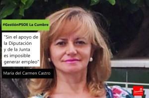 Mar a del carmen castro sin el apoyo de la diputaci n y de la junta es imposible generar - Maria del carmen castro ...