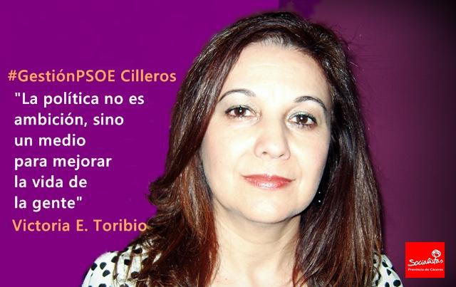 Victoria Eugenia Toribio: «La política no es  ambición, sino un medio para mejorar la vida de la gente»