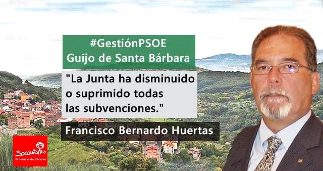 Francisco Bernardo: «La Junta ha disminuido o suprimido todas las subvenciones»
