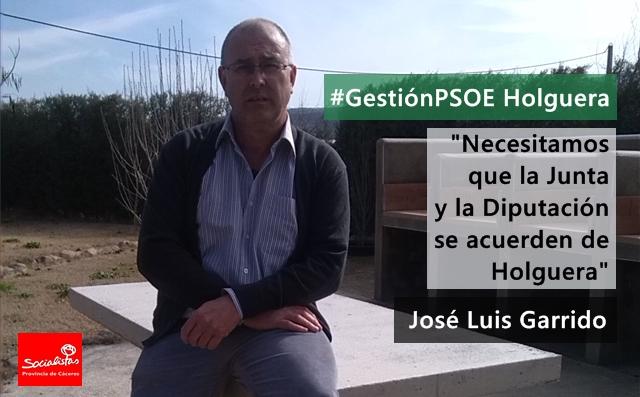 José Luis Garrido Moreno: «Necesitamos que la Junta y la Diputación se acuerden de Holguera»
