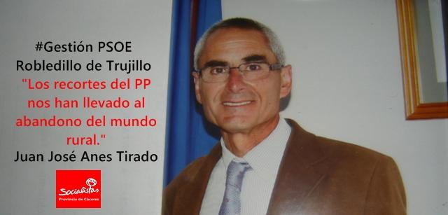 Juan José Anes Tirado: «Los recortes del PP nos han llevado al abandono del mundo rural»