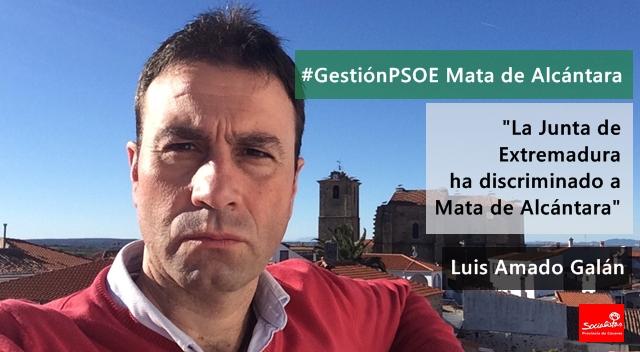 Luis Amado Galán: «La Junta de Extremadura ha discriminado a Mata de Alcántara»