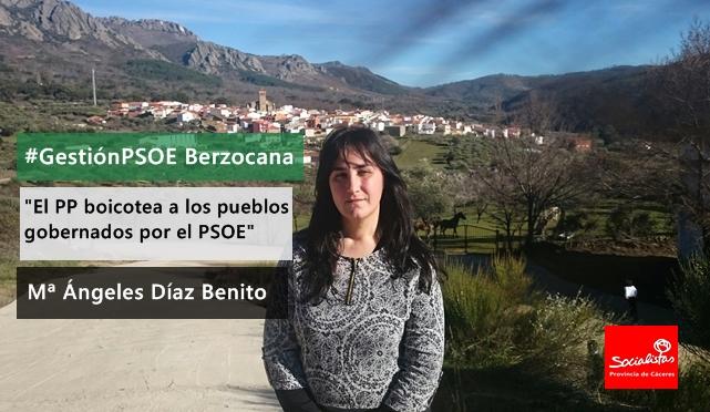 Mª Ángeles Díaz Benito: «El PP boicotea a los pueblos gobernados por el PSOE»