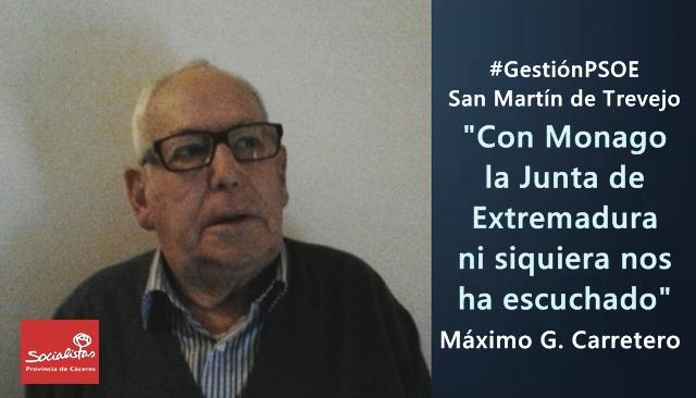 Máximo Carretero: «Con Monago, la Junta de Extremadura ni siquiera nos ha escuchado»