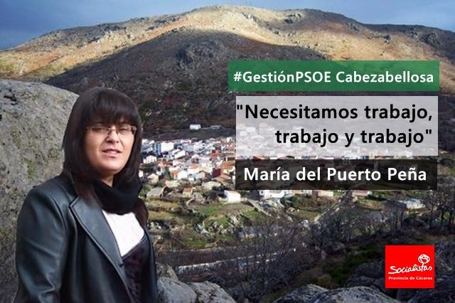María del Puerto Peña: «Necesitamos trabajo, trabajo y trabajo»