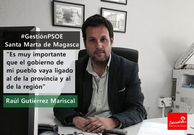 Raúl Gutiérrez: «Es muy importante que el gobierno de mi pueblo vaya ligado al de la provincia y al de la región»