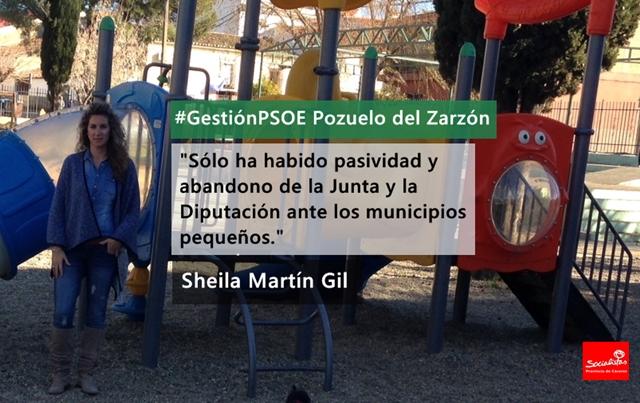 Sheila Martín Gil: «Pasividad y abandono de la Junta y la Diputación ante los municipios pequeños»