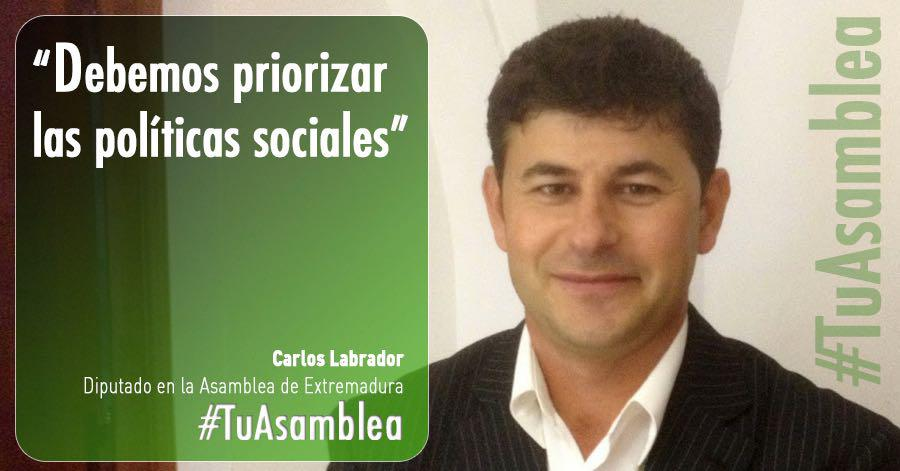 Carlos Labrador: «Debemos priorizar las políticas sociales»