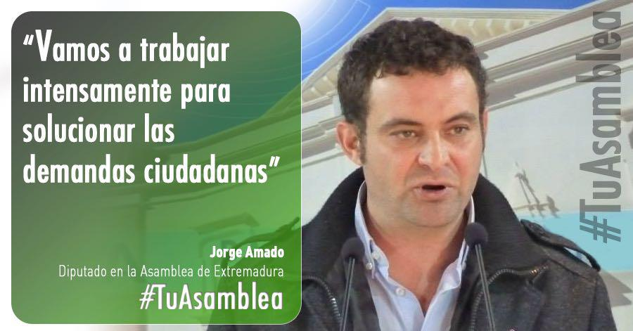 Jorge Amado: «Vamos a trabajar intensamente para solucionar las demandas ciudadanas»