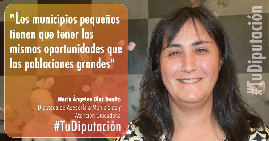 M.ª Ángeles Díaz: «Los municipios pequeños deben tener las mismas oportunidades que los grandes»