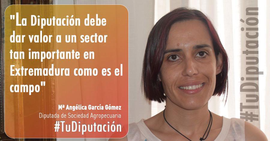 María Angélica García: «La Diputación debe dar valor al campo»