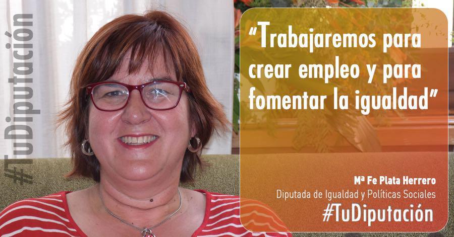 Mª Fe Plata Herrero: «Quiero que nuestros pueblos tengan todos los servicios necesarios para que los vecinos no se vayan»