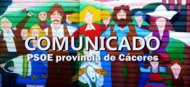 El PSOE de la provincia de Cáceres condena los actos vandálicos contra el alcalde de Alcuéscar