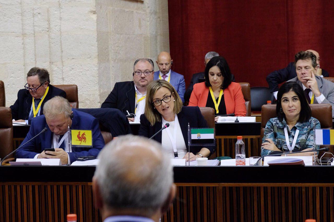 """Blanca Martín expone en el Comité de la CALRE el plan de trabajo del grupo europeo que lidera sobre """"Igualdad y Reto Demográfico"""""""