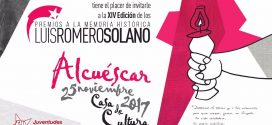 Invitación a los Premios a la Memoria Histórica Luis Romero Solano