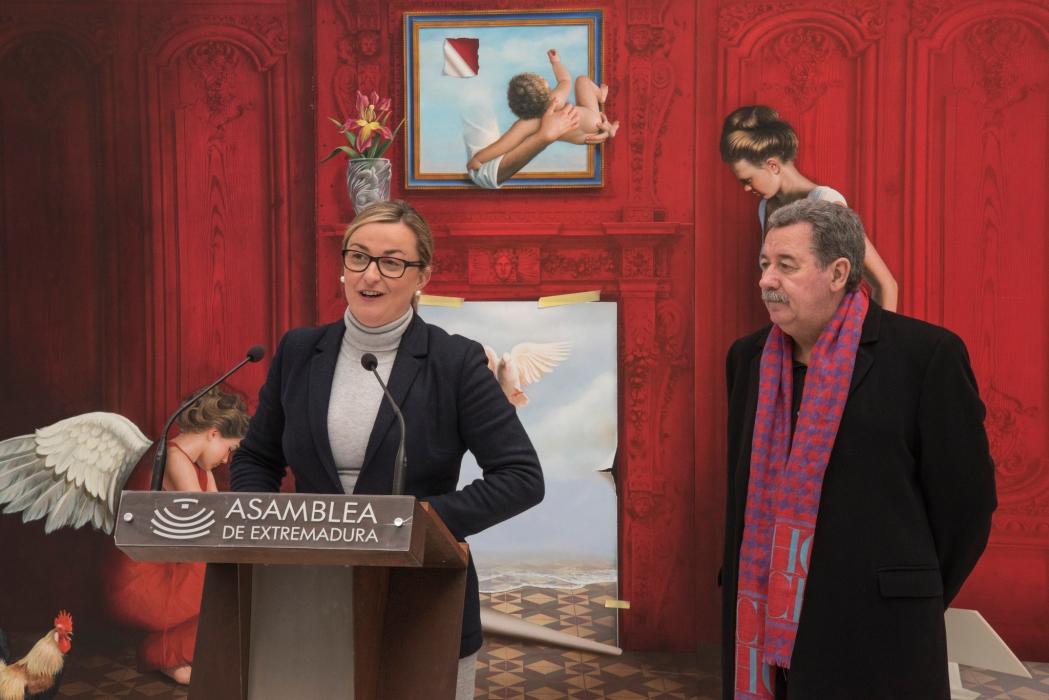 Blanca Martín reivindica un espacio que exponga permanentemente la obra Enrique Jiménez Carrero en Extremadura