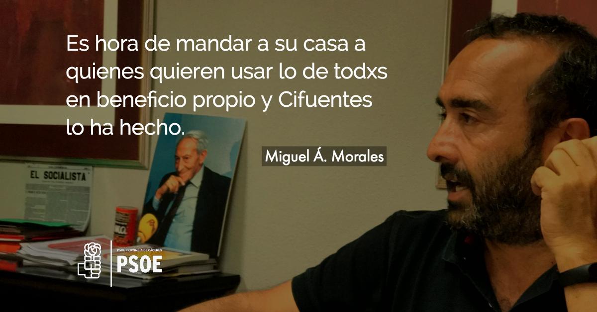 """Miguel Á. Morales: """"Cifuentes. PP. Corrupción"""""""