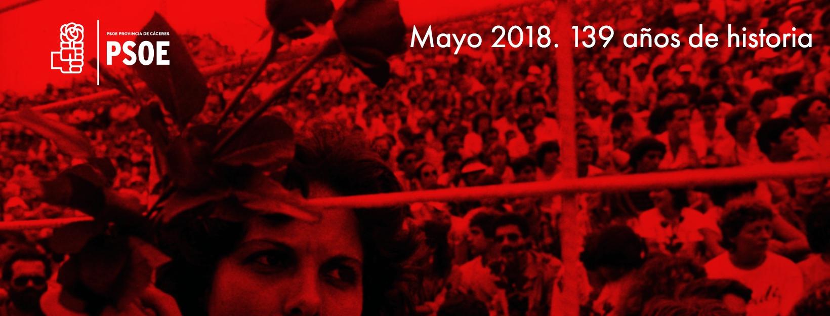 El PSOE cumple 139 años al servicio de la igualdad y las mejoras sociales