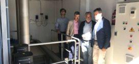 Navarro visita las obras de mejora de abastecimiento de agua en Santibáñez el Bajo