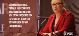 """Blanca Martín: """"Extremadura hoy y siempre"""""""