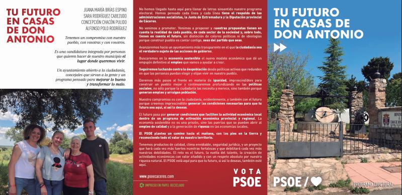Nani Brias: El PP ha destrozado Casas de Don Antonio