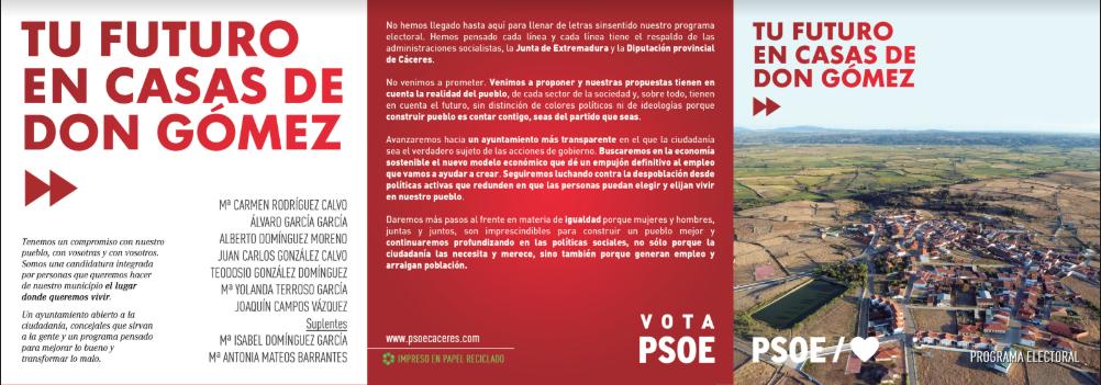 Mª Carmen Rodríguez: «El PSOE no cataloga a nadie por ser de un partido o de otro en Casas de Don Gómez»