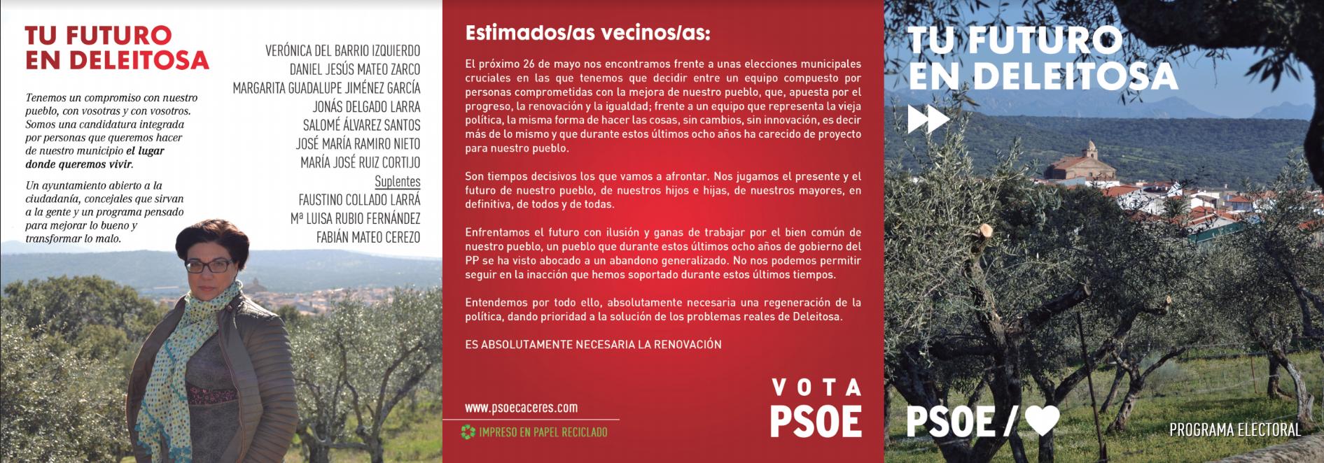 Verónica del Barrio: Lo que se hace en Deleitosa es por las administraciones del PSOE