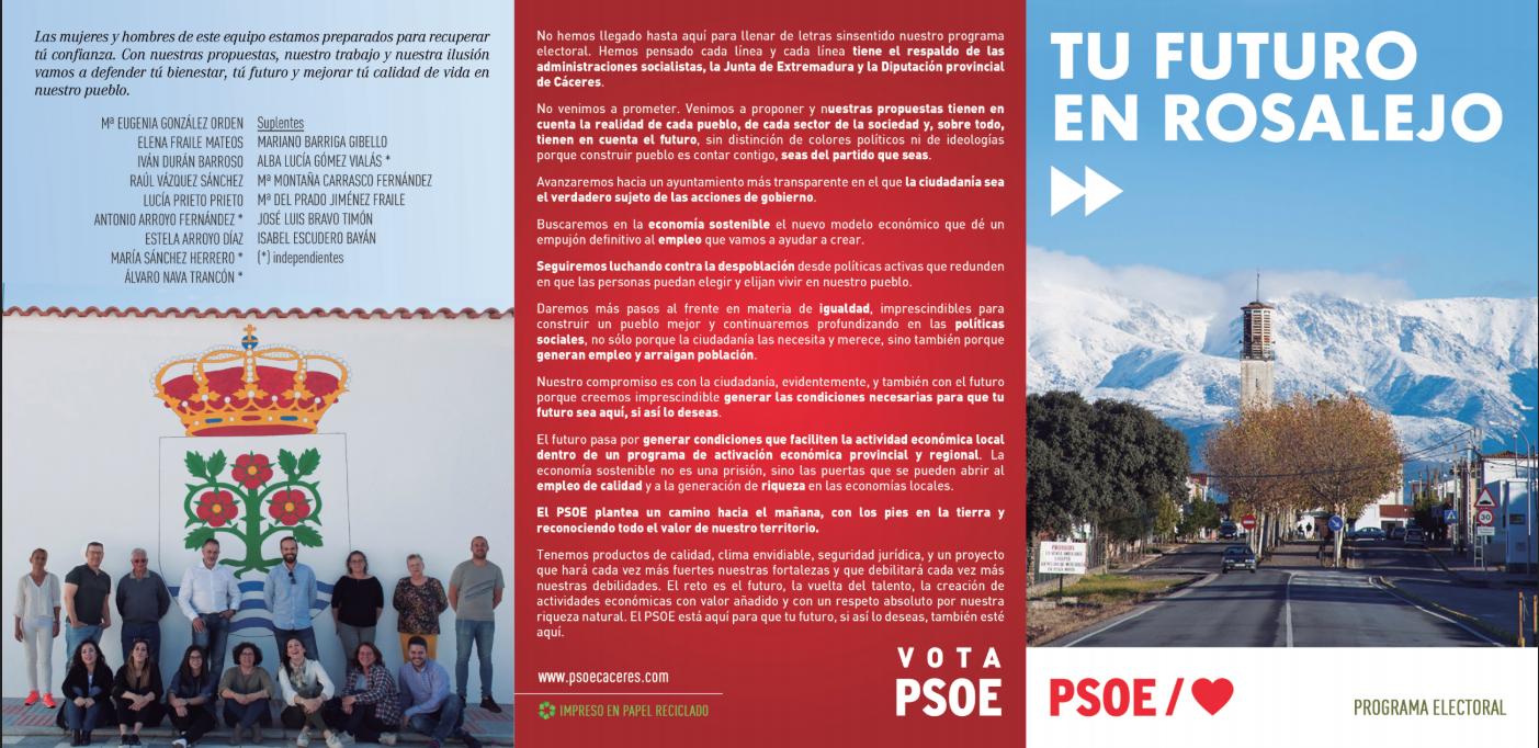 Mª Eugenia González: Rosalejo puede y debe progresar con el PSOE