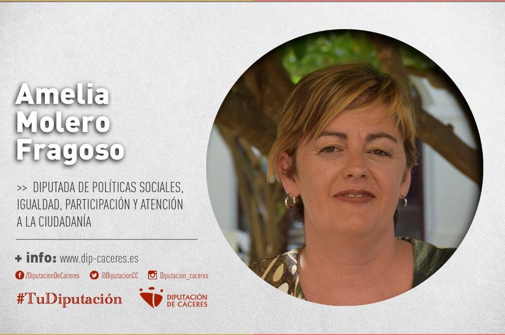 Conoce a #TuDiputada por el Partido Judicial de Cáceres: Amelia Molero Fragoso