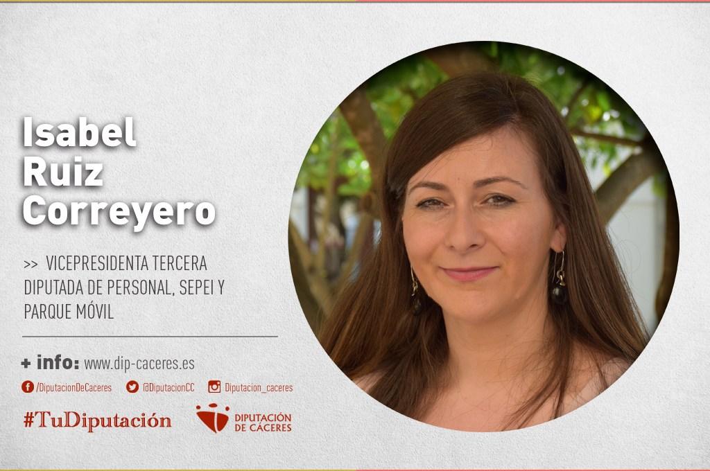 Conoce a #TuDiputada por el Partido Judicial de Trujillo: Isabel Ruiz Correyero