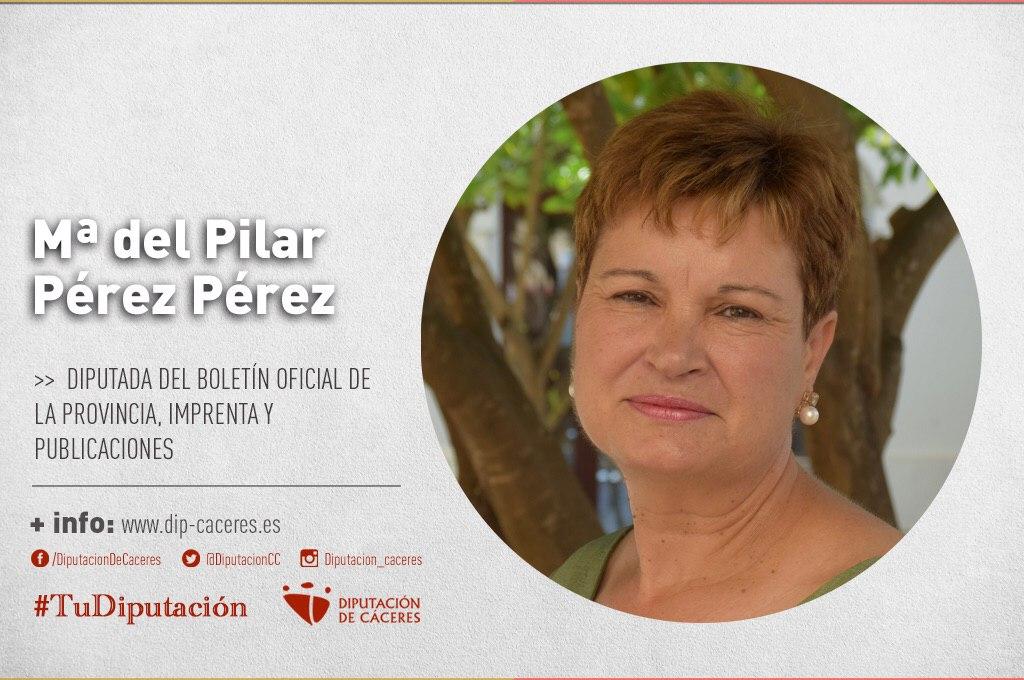 Conoce a #TuDiputada por el Partido Judicial de Cáceres: María del Pilar Pérez Pérez
