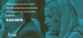 Blanca Martín: «Extremadura es una buena noticia»