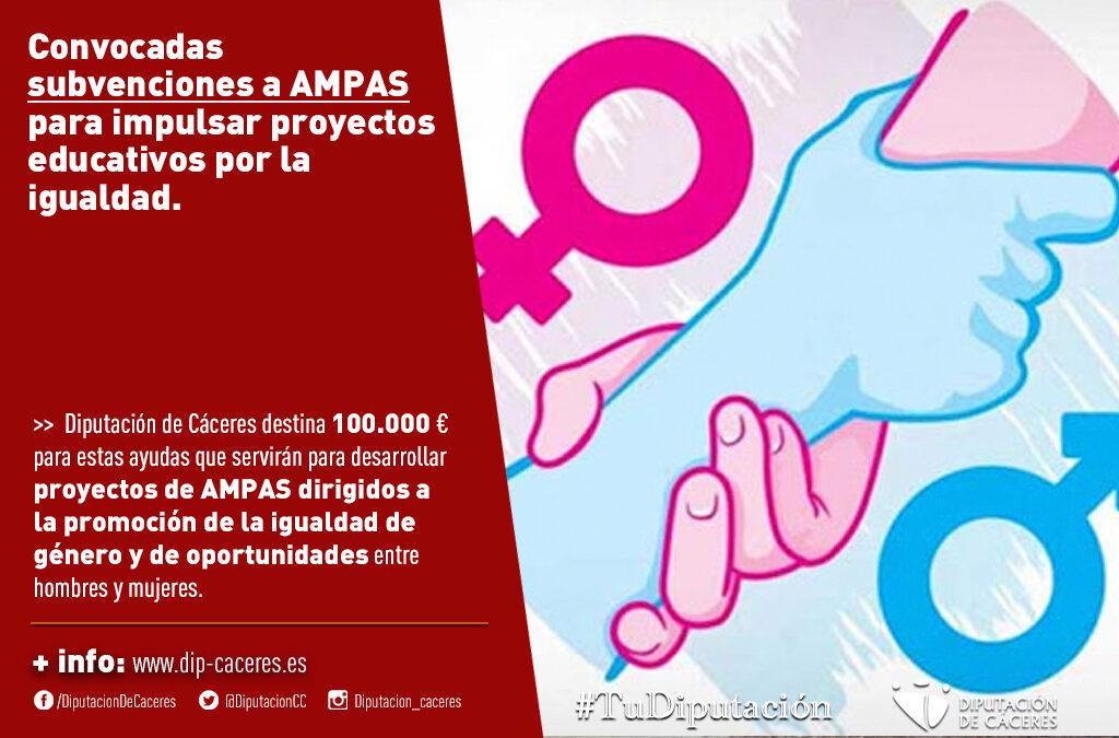 Convocadas las subvenciones dirigidas a AMPAS para impulsar proyectos educativos por la igualdad