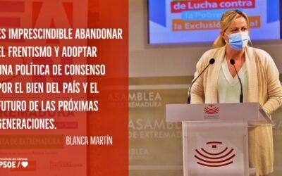 """Blanca Martín: """"No me gusta lo que está pasando políticamente en este país"""""""