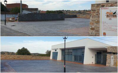 Finalizadas las obras de mejora en el entorno del Velatorio Municipal de Peraleda de San Román