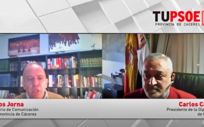 Carlos Carlos: «La lucha contra la pandemia y la crisis socio-económica marcará el trabajo de la Diputación»