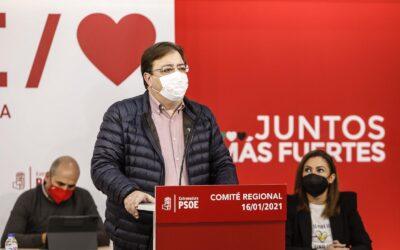 Guillermo Fernández Vara será candidato a la reelección como Secretario General del PSOE de Extremadura